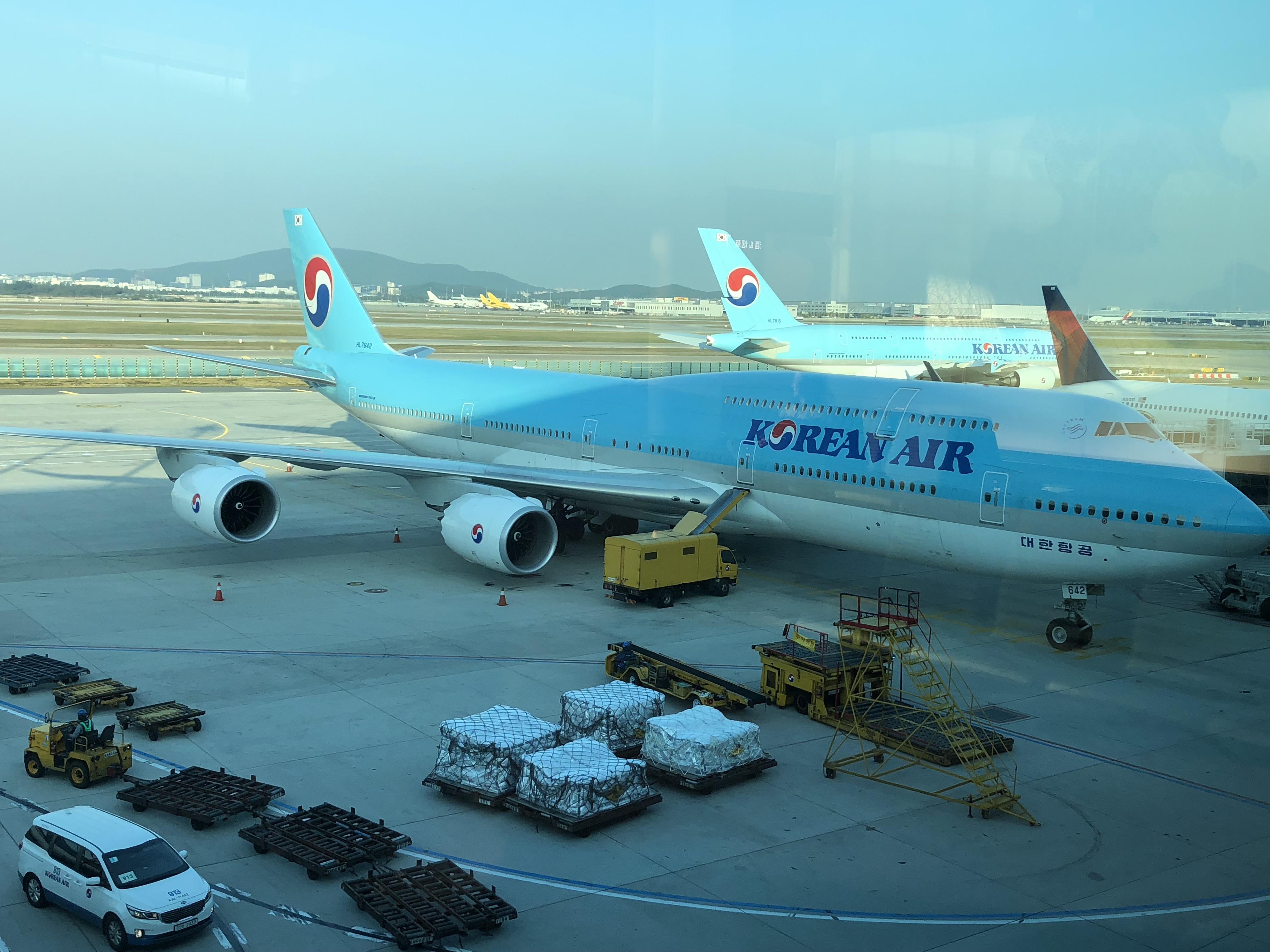 A Korean Air Boeing 747-8