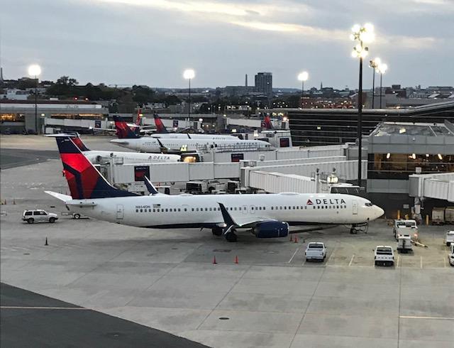 Delta Planes at Boston Logan Airport